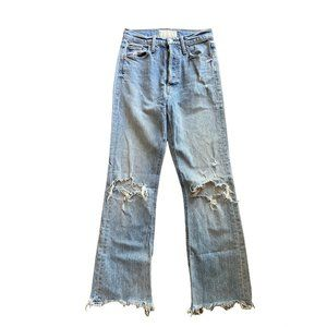 MOTHER SUPERIOR The Tripper Ankle Distressed High Rise Waisted Jeans Women's 25